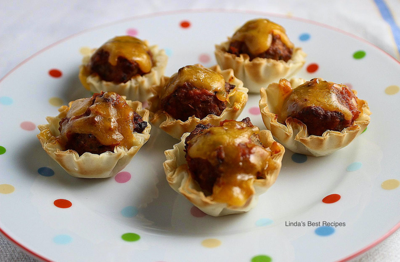 Phyllo Meatball Cups